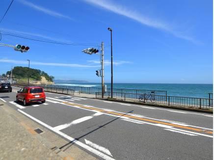 湘南の雰囲気溢れる国道134号線