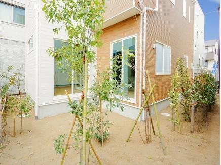 お庭スペースにはたくさんの植栽があるんです