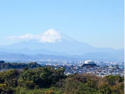 富士山を贅沢に眺めることができるんです