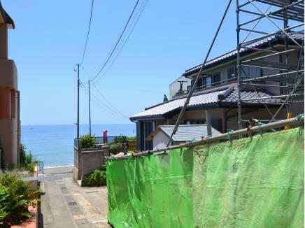 前面道路からの眺望 少し歩くと海です!