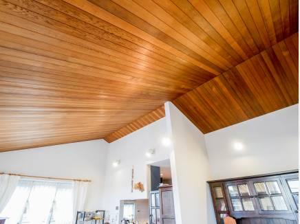 高い天井は木の温もりを感じていただけます