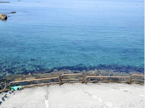 透明感のある青い海がいつでも眺められます