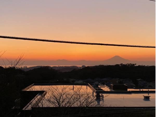 夕暮れの富士山がとても素敵です
