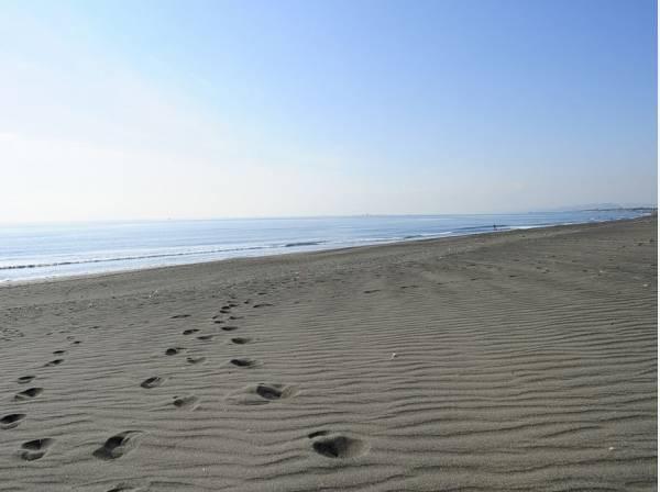 海まではお散歩がてら歩いたり自転車でも行かれます(約1500m)