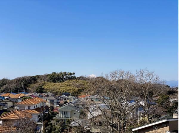 晴れていて空気の澄んだ日にはちらりと富士山も