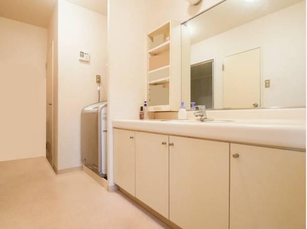 洗面室はゆとりの広さを完備