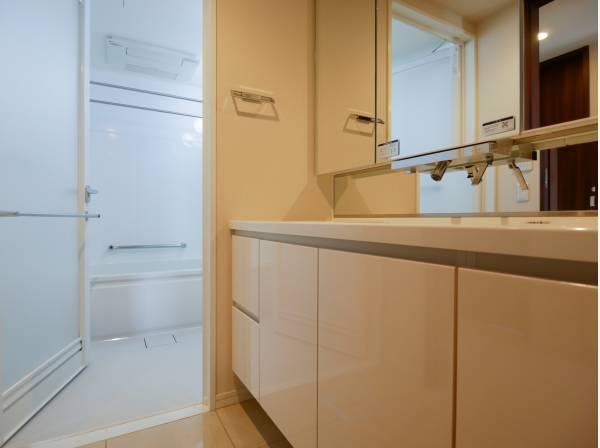洗面室・バスルームは広々とした造りになっています。