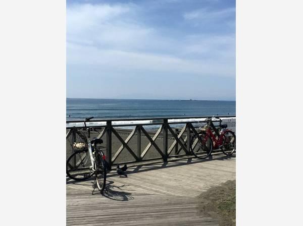 海までは自転車で行かれそう(約1800m)